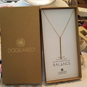 "Dogeared Balance 24"" gold dipped pendant necklace"